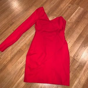 Red One Long Sleeve Dress
